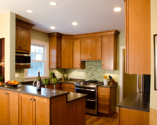 Small Craftsman Eat In Kitchen Design Ideas Remodel