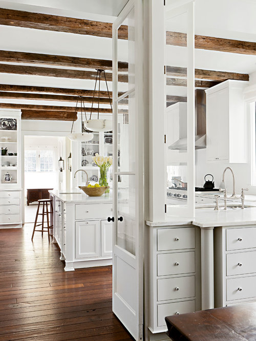 white kitchen wood floors ideas, pictures, remodel and decor