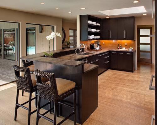 Peninsula With Eating Bar Overhang Home Design Ideas