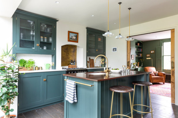 Transitional Kitchen by Emilie Fournet Interiors
