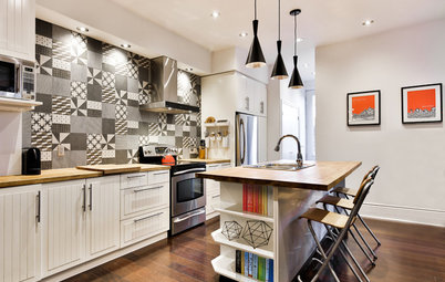 New This Week: 4 Rooms With Black-and-White Tile Style