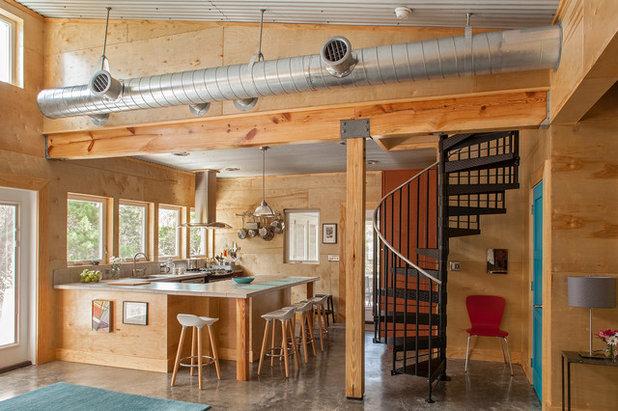 Industrial Kitchen by Greene Design LLC
