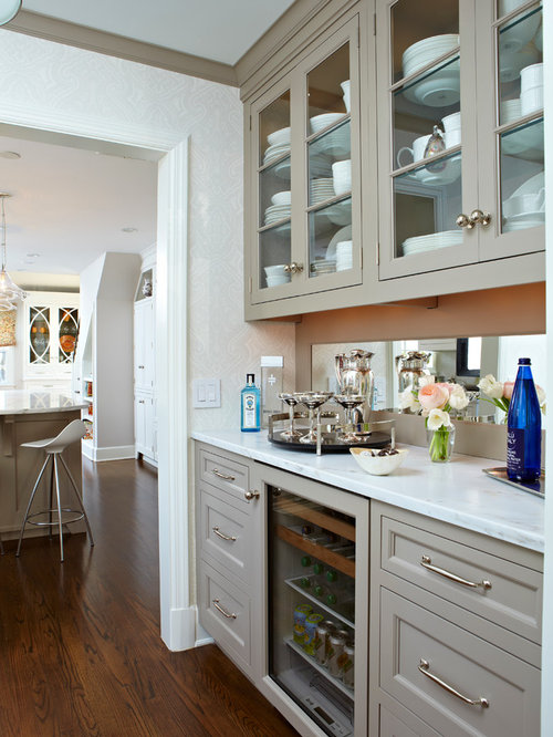 Dry bar cabinet houzz for Dry kitchen ideas