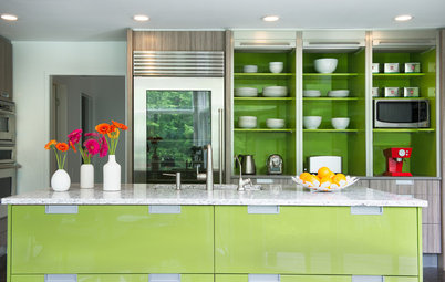 Kitchen of the Week: Bold Green and User Friendly in Connecticut