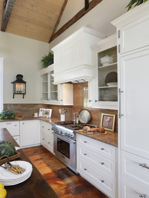 Example Of A Classic Kitchen Design In Philadelphia With Recessed Panel  Cabinets, White Cabinets