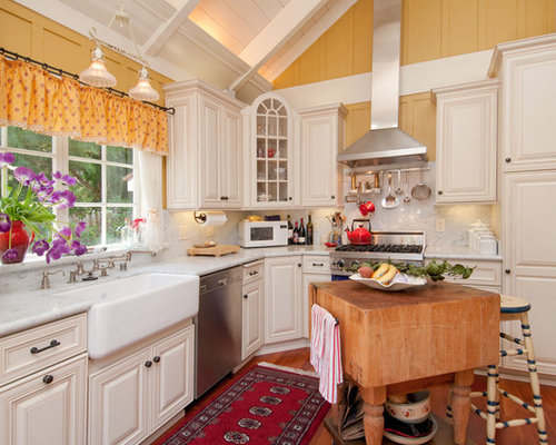 fascinating yellow kitchen white cabinets | Best Yellow Walls White Cabinets Design Ideas & Remodel ...
