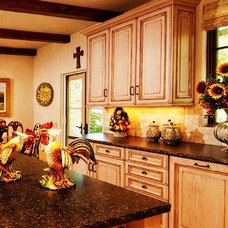 Mediterranean Kitchen by Debra Campbell Design