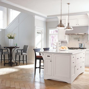 White Inset Cabinets | Houzz