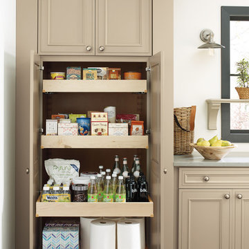Decorá Cabinets: Tall Pantry Cabinet with Roll Trays