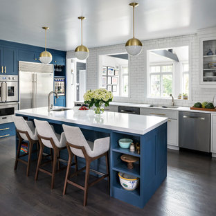Large Transitional Eat In Kitchen Ideas   Eat In Kitchen   Large  Transitional L