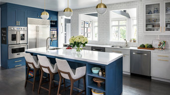 Deep Blue Kitchen Larchmont Manor