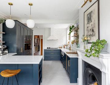 Deep Blue Renovation in Bath