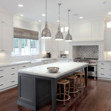Transitional Kitchen by Red Rock Custom Homes, Inc.