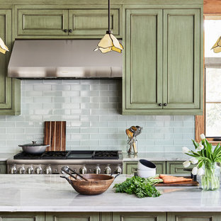 75 Most Popular Craftsman Green Kitchen Design Ideas For 2019
