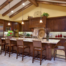Mediterranean Kitchen by McCullough Design Development Inc