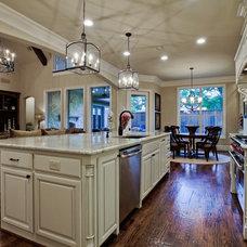 Traditional Kitchen by Nortex Custom Hardwood Floors