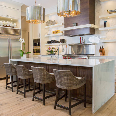 Beach style kitchen photo in Other