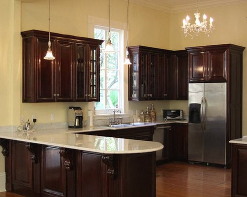 Gloss Cherry Custom Cabinetry - New Orleans
