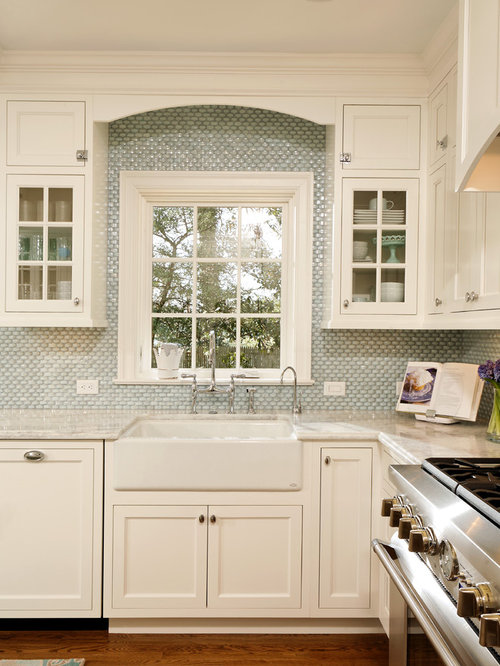 farmhouse kitchen cabinets tile around window houzz 3696
