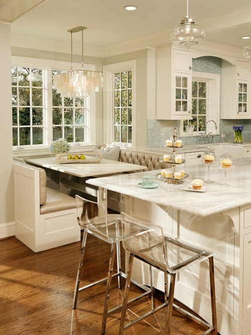 Inspiration for a timeless kitchen remodel in DC Metro with a farmhouse  sink and quartzite countertops