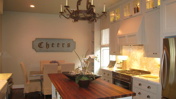 Eclectic Kitchen by A Waters