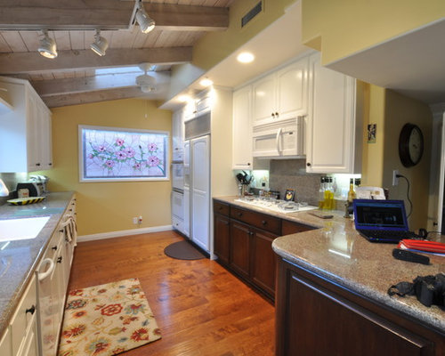 Kitchen pantry in other with an undermount sink raised panel cabinets - Concealed Hinges Kitchen Design Ideas Renovations
