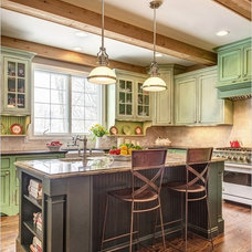 Transitional Kitchen by Donna F. Boxx, Architect, P.C.