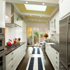 Transitional Kitchen by Four Brothers LLC