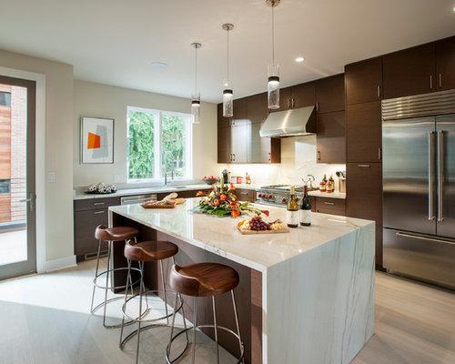 Contemporary Kitchen Interior Desing white contemporary kitchen cabinets gloss Best Contemporary Kitchen Design Ideas Remodel Pictures Houzz