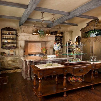 Small kitchen design ideas french country farmhouse for Country farm kitchen ideas