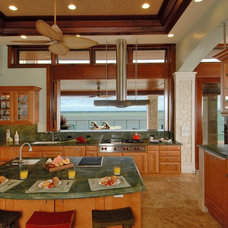 Beach Style Kitchen by Archipelago Hawaii Luxury Home Designs