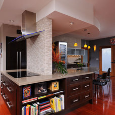 Contemporary Kitchen by Columbia Cabinets