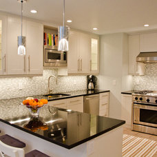 transitional kitchen by Rajni Alex Design