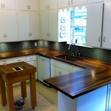 Transitional Kitchen by DeVos Custom Woodworking