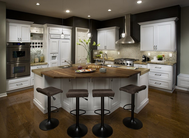 Transitional Kitchen by DeWils Custom Cabinetry