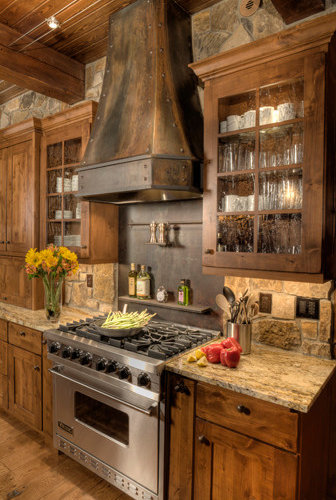 Rustic Stone Backsplash Home Design Ideas Pictures