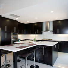 Contemporary Kitchen by Mega Builders