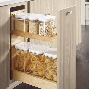 Diamond Cabinets: Base Container Organizer Pantry Pull-out Cabinet
