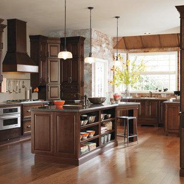 Diamond Cabinets: Dark Cherry Traditional Kitchen