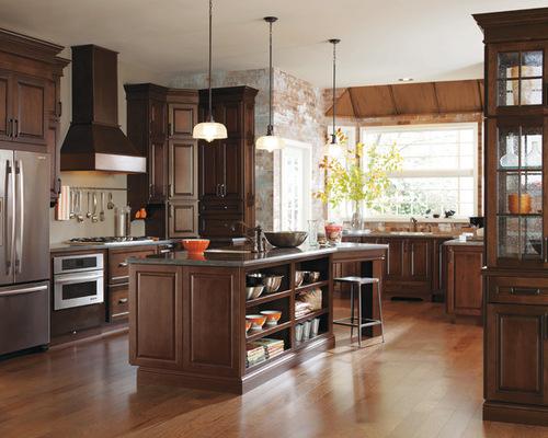 Dark Cherry Kitchen Cabinets Houzz