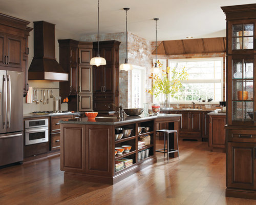 Dark Cherry Kitchen Cabinets Ideas, Pictures, Remodel and Decor