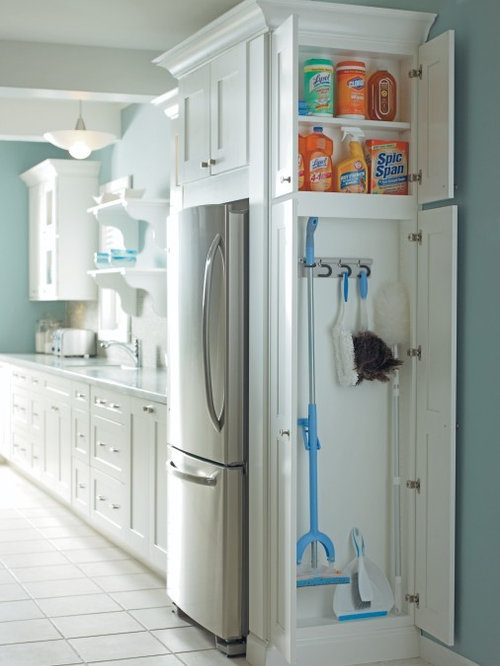 Small kitchen pantry designs  ceramic floor photo in Other with white cabinets Our 11 Best Kitchen Pantry Ideas Decoration Pictures Houzz