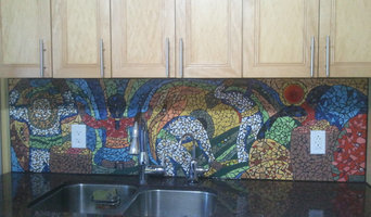 Diego Rivera-Inspired Workers Mosaic, kitchen backsplash in private residence