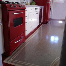 Industrial Kitchen by Crogan Inlay Floors
