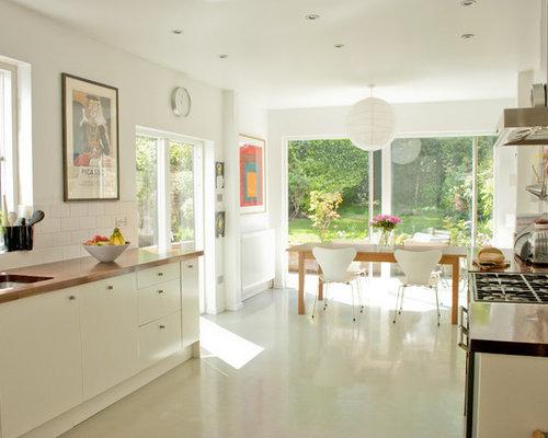White Kitchen Floor Tiles  Houzz