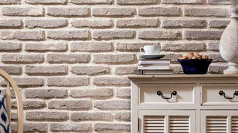 Dining Room Feature Wall using Sabbia Brick Slips