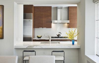 8 crossover-küchen: mit stilmix gegen den weißen einheitsbrei - Durchreiche Kuche Wohnzimmer Modern
