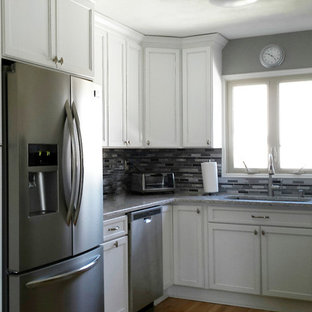 Direct Depot | White Kitchen with Stainless Steel Apron Sink