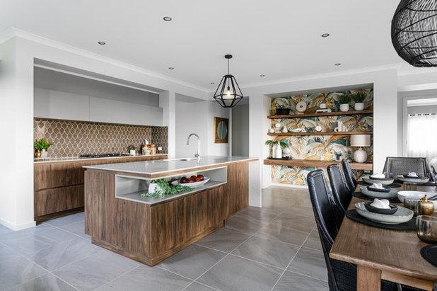 Современный Кухня by Metricon