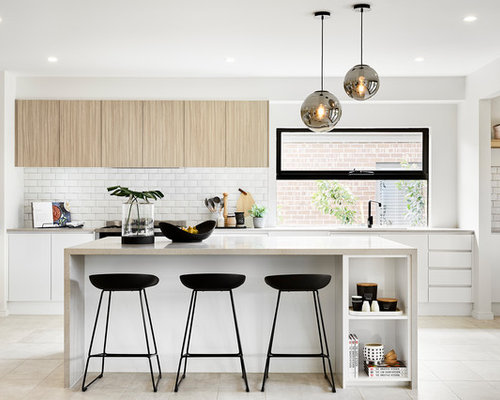 Lovely This Is An Example Of A Modern L Shaped Kitchen In Melbourne With An  Undermount